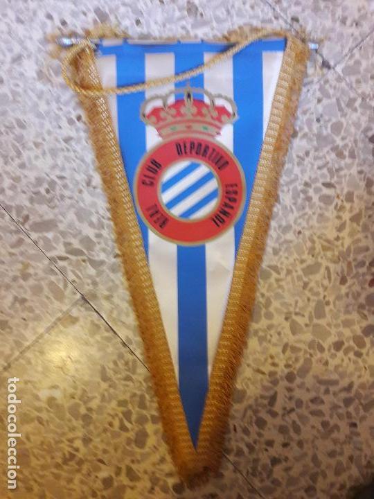 GRAN BANDERIN EN TELA DEL RCD ESPANYOL ESPAÑOL (Coleccionismo Deportivo -  Banderas y Banderines de 31c0647a8f6