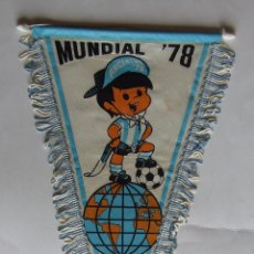 Collectionnisme sportif: BANDERIN OFICIAL DE TELA MUNDIAL DE FUTBOL ARGENTINA `78 PENNANT 1978. Lote 132060234
