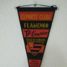 Coleccionismo deportivo: BANDERIN FLAMENGO 1964-1965 BICAMPEON. Lote 132422490