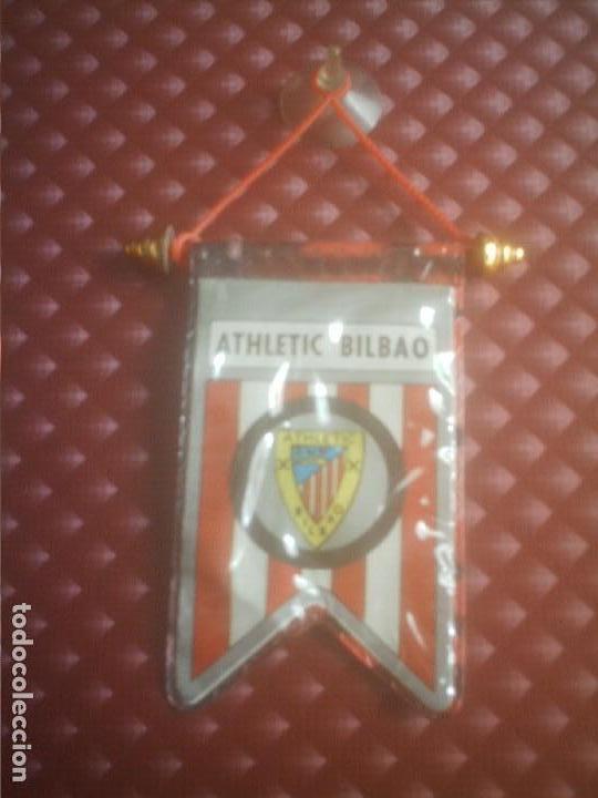 ATLETICH BILBAO-ATLETICO DE BILBAO - BANDERIN ANTIGUO DE COCHE (Coleccionismo Deportivo - Banderas y Banderines de Fútbol)