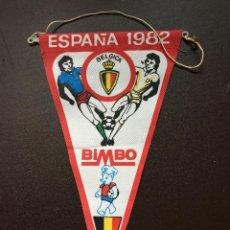 Coleccionismo deportivo: BIMBO BANDERIN MUNDIAL ESPAÑA 1982 SELECCION BELGICA QUINCOCES. Lote 132623562