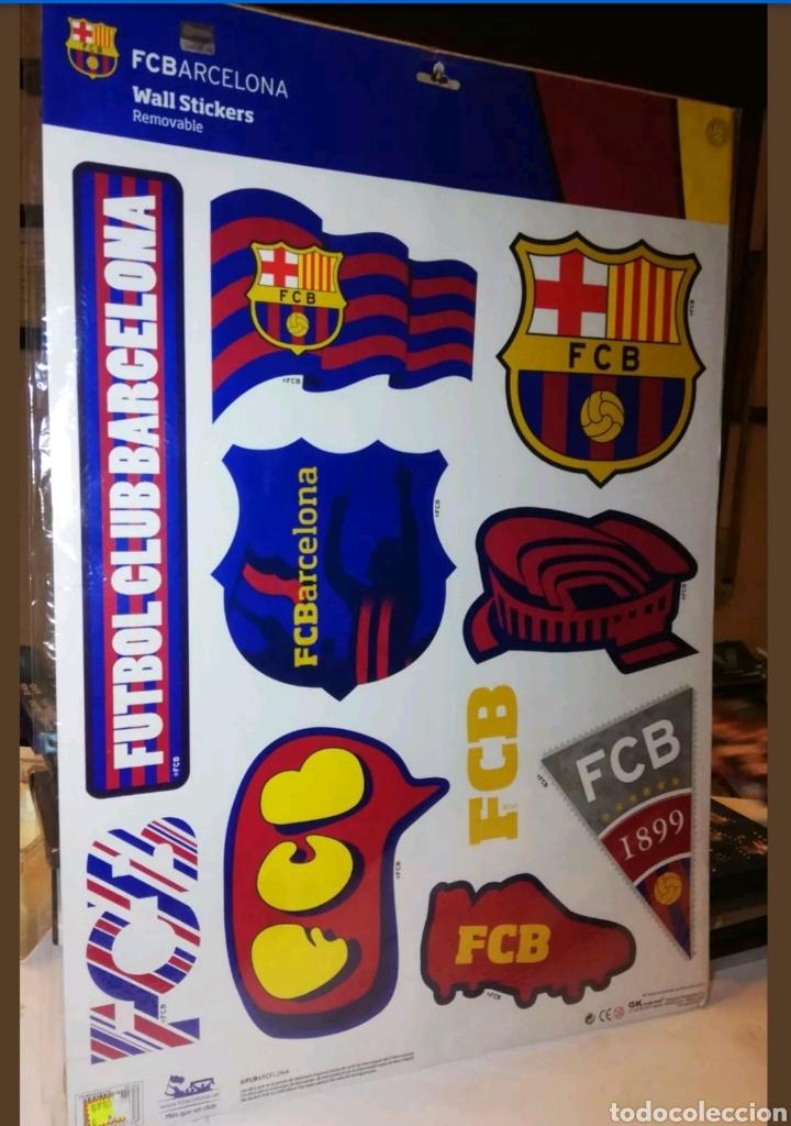 VINILOS WALL STICKERS BARCELONA FUTBOL TAMAÑO GIGANTE BARÇA (Coleccionismo Deportivo - Banderas y Banderines de Fútbol)