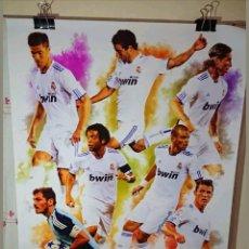 Coleccionismo deportivo: POSTER GRANDE DEL REAL MADRID 100% ORIGINAL 75X60CM. Lote 132959455
