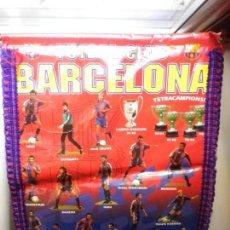 Coleccionismo deportivo: BARÇA - BANDERIN F.C. BARCELONA CAMPEON DE EUROPA Y TETRACAMPEONES DE LIGA GUARDIOLA ROMARIO. Lote 134028410