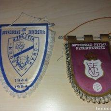Coleccionismo deportivo: LOTE DOS BANDERINES FÚTBOL VASCO. Lote 134090483