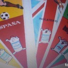 Coleccionismo deportivo: MUNDIAL 1966 INGLATERRA LOTE DE 16 SELECCIONES- BANDERINES. Lote 135495362