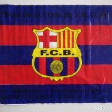 Coleccionismo deportivo: BANDERA PLÁSTICO FC BARCELONA BARÇA FINAL COPA DEL REY 1996. Lote 136259478