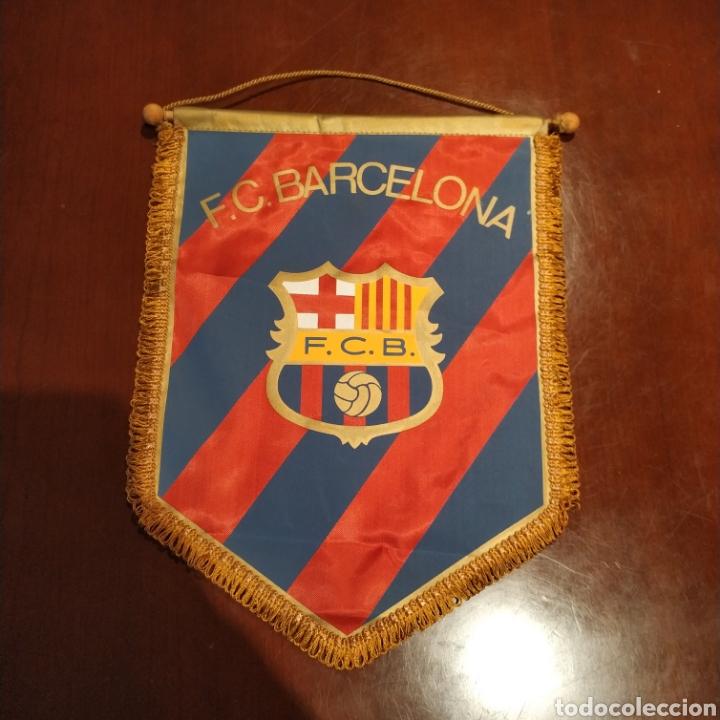 BANDERIN FC BARCELONA (Coleccionismo Deportivo - Banderas y Banderines de Fútbol)