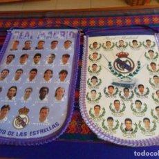 Coleccionismo deportivo: LOTE 2 BANDERÍN GIGANTE 48X33 CMS REAL MADRID C.F. AÑOS 90. RAROS EN MUY BUEN ESTADO.. Lote 137422890