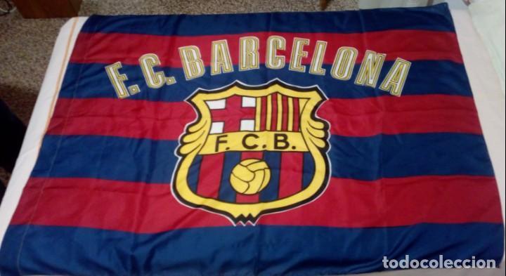 8e2b47c3b65cf BANDERA FC BARCELONA (Coleccionismo Deportivo - Banderas y Banderines de  Fútbol)