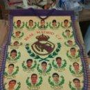 Coleccionismo deportivo: FÚTBOL REAL MADRID BANDERIN AÑOS 90 BUTRAGUEÑO MICHEL BUYO......BANDERIN 45X29 CMS. Lote 139609065