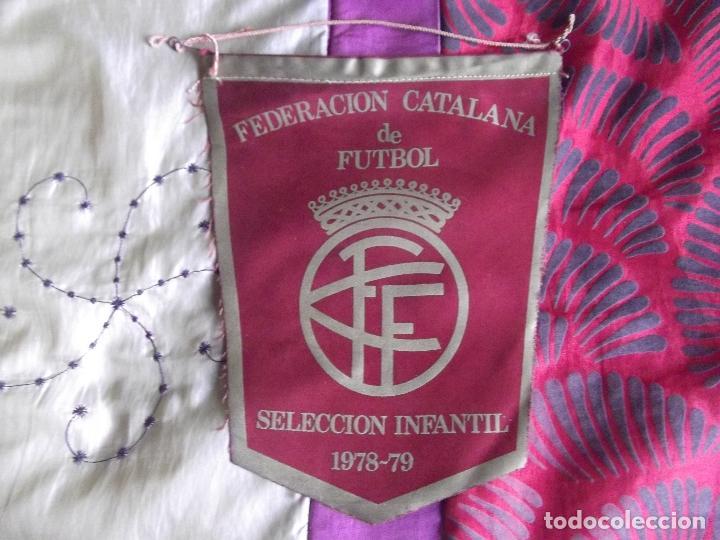 BANDERINES-ESPAÑA-FEDERACION CATALANA DE FUTBOL-SELECCION INFANTIL-1978-79-22X18CM (Coleccionismo Deportivo - Banderas y Banderines de Fútbol)
