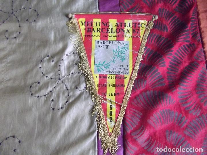 BANDERINES-BARCELONA 1982-MEETING ATLETIC-33X20CM (Coleccionismo Deportivo - Banderas y Banderines de Fútbol)