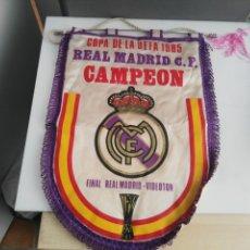 Coleccionismo deportivo: ANTIGUO BANDERIN DEL REAL MADRID FINAL COPA CAMPEON UEFA 1985 VIDEOTON . Lote 140779462