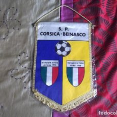 Coleccionismo deportivo: BANDERINES-S.P.CORSICA-BEINASCO-35X23CM. Lote 140839714
