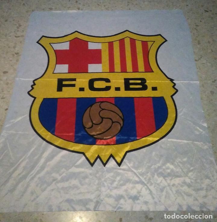 BANDERA DEL BARCELONA (Coleccionismo Deportivo - Banderas y Banderines de Fútbol)