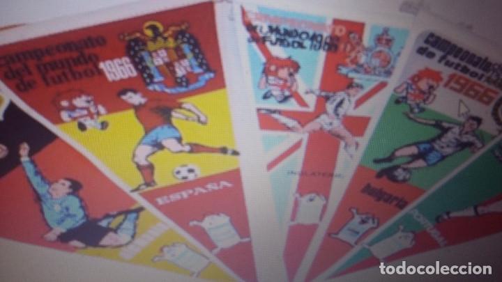 MUNDIAL 1966 INGLATERRA -LOTE DE 16 BANDERINES DEL MUNDIAL - POR SELECCIONES (Coleccionismo Deportivo - Banderas y Banderines de Fútbol)