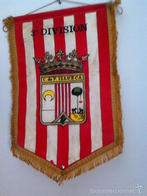 C.D ILLUECA. BANDERÍN ANTIGUO (Coleccionismo Deportivo - Banderas y Banderines de Fútbol)