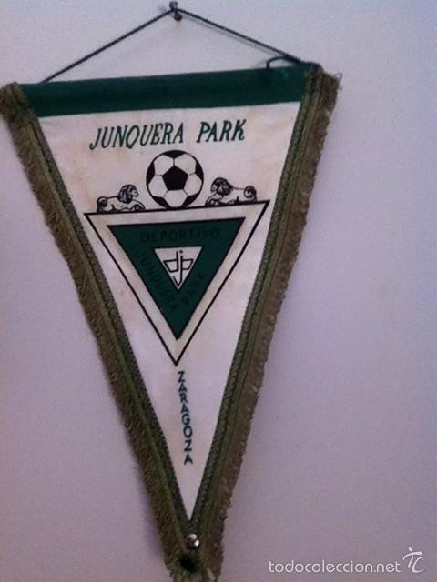 C.D. JUNQUERA PARK. BANDERÍN ANTIGUO (Coleccionismo Deportivo - Banderas y Banderines de Fútbol)