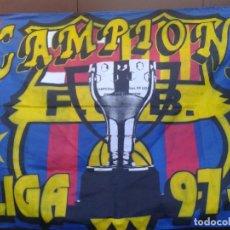 Coleccionismo deportivo: GRAN BANDERA BARCELONA FC , CAMPEÓN DE LIGA 97/98. Lote 146069626