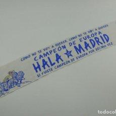 Coleccionismo deportivo: BUFANDA REAL MADRID CLUB DE FUTBOL CAMPEON DE EUROPA DECIMA COPA OBJETO DE COLECCION. Lote 146236122