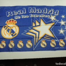 Coleccionismo deportivo: BANDERA DE REAL MADRID DE LAS ESTRELLAS PRODUCTO OFICIAL. Lote 146257566