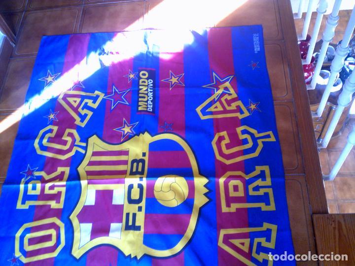 Coleccionismo deportivo: GRAN BANDERA DEL BARÇA MIDE 146 X 100 PRODUCTO OFICIAL - Foto 2 - 146981818