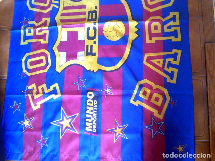 Coleccionismo deportivo: GRAN BANDERA DEL BARÇA MIDE 146 X 100 PRODUCTO OFICIAL - Foto 3 - 146981818