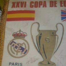 Coleccionismo deportivo: BANDERIN REAL MADRID FIRMADO. Lote 148463828