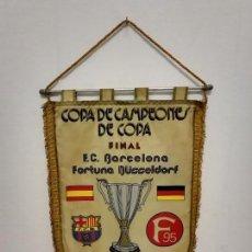 Coleccionismo deportivo: BANDERÍN FINAL COPA DE CAMPEONES 1979. F. C. BARCELONA - FORTUNA DUSSELDORF. . Lote 148535458