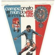 Coleccionismo deportivo: ANTIGUO BANDERIN TELA CAMPEONATO MUNDIAL DE FUTBOL 1966 FRANCIA FOOTBALL FRANCE. Lote 149163370