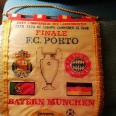 Coleccionismo deportivo: BANDERIN FINAL COPA DE EUROPA FC BAYER MUNICH-OPORTO. Lote 150023778