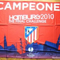 Sammelleidenschaft Sport - BANDERA FLAG ATLETICO MADRID 100x70 OFICIAL UEFA HAMBURGO CAMPEON DRAPEAU FLAGGE - 150080622