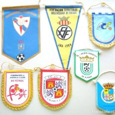 Coleccionismo deportivo: 7 BANDERIN PENNANT WIMPEL FEDERACION FUTBOL ESPAÑA TERRITORIAL DIFER. CALIDAD L/11. Lote 150234162