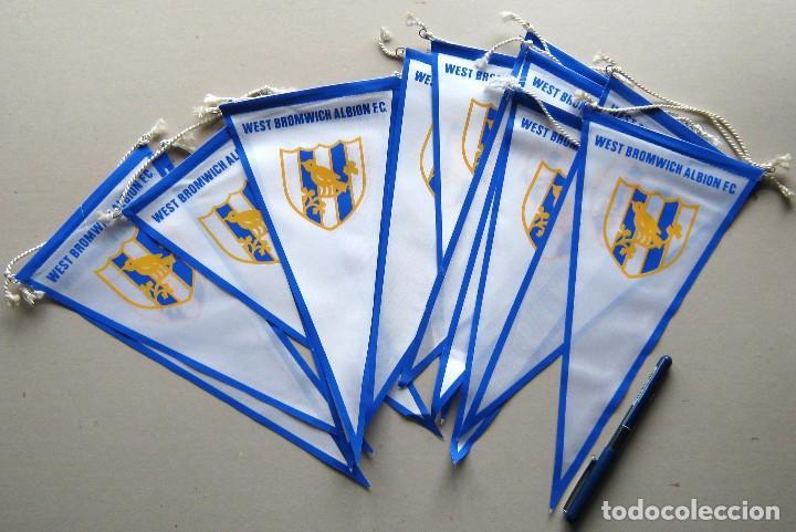 12 BANDERIN PENNANT WIMPEL WEST BROMWICH ALBION ENGLAND 30 X 15 NEWS L / 30 (Coleccionismo Deportivo - Banderas y Banderines de Fútbol)