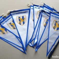 Coleccionismo deportivo: 12 BANDERIN PENNANT WIMPEL WEST BROMWICH ALBION ENGLAND 30 X 15 NEWS L / 30. Lote 150235366