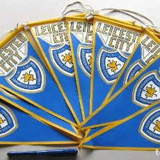Coleccionismo deportivo: 10 BANDERIN PENNANT WIMPEL LEICESTER CITY FC PREMIER ENGLAND 30 X 15 L/32. Lote 150235594