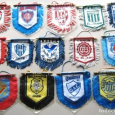Collectionnisme sportif: 14 BANDERIN PENNANT WIMPEL ARGENTINA EQUIPOS FUTBOL FOOTBALL BANDERINES L/33. Lote 150235754