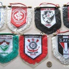 Coleccionismo deportivo: 7 BANDERIN PENNANT WIMPEL BRASIL EQUIPOS FUTBOL FOOTBALL 13X12 BANDERINES L36. Lote 150235966