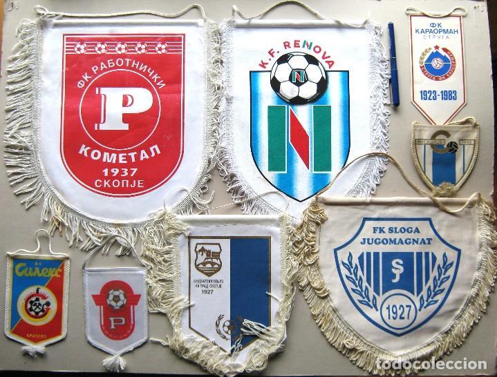8 BANDERIN PENNANT WIMPEL MACEDONIA MAKEDONIJA FYROM TEAMS FOOTBALL FUTBOL L/41 (Coleccionismo Deportivo - Banderas y Banderines de Fútbol)