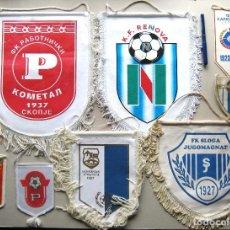 Coleccionismo deportivo: 8 BANDERIN PENNANT WIMPEL MACEDONIA MAKEDONIJA FYROM TEAMS FOOTBALL FUTBOL L/41. Lote 150236146