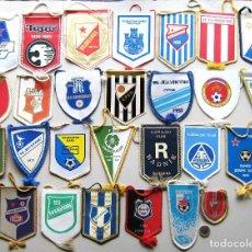 Coleccionismo deportivo: 56 BANDERIN PENNANT SERBIA YUGOSLAVIA WIMPEL DIFERENTS EQUIPOS TEAM FUTBOL L/42. Lote 150236306