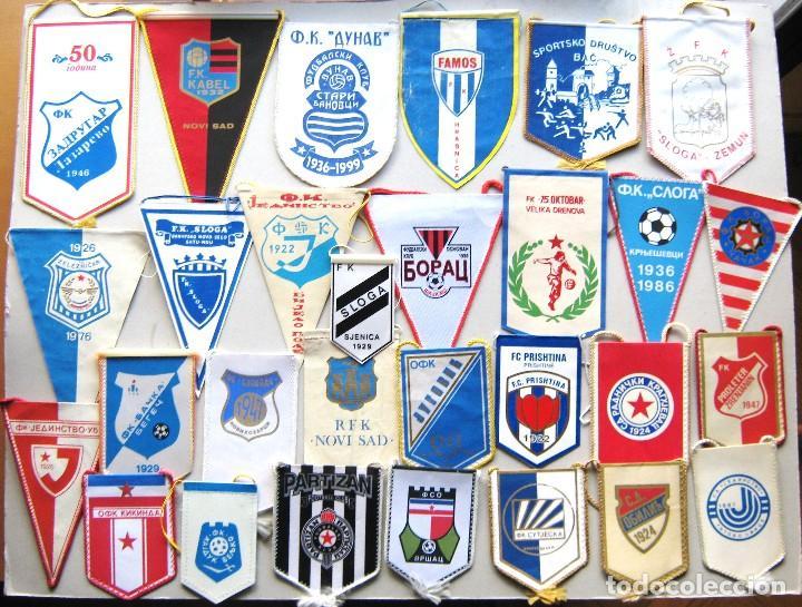 Coleccionismo deportivo: 56 BANDERIN PENNANT SERBIA YUGOSLAVIA WIMPEL DIFERENTS EQUIPOS TEAM FUTBOL L/42 - Foto 2 - 150236306
