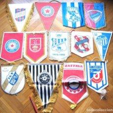 Coleccionismo deportivo: 13 BANDERIN -GRANDES- BIG PENNANT SERBIA YUGOSLAVIA WIMPEL EQUIPOS TEAM FUTBOL L/43. Lote 150236614