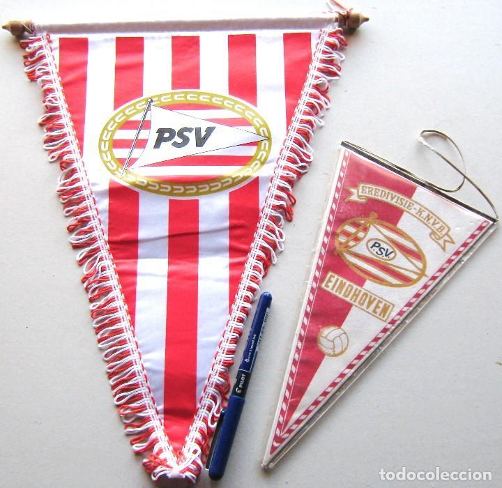 2 BANDERIN PENNANT PSV EINDHOVEN HOLLAND NETHERLAND NEDERLAND FUTBOL WIMPEL L65 (Coleccionismo Deportivo - Banderas y Banderines de Fútbol)