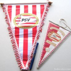Coleccionismo deportivo: 2 BANDERIN PENNANT PSV EINDHOVEN HOLLAND NETHERLAND NEDERLAND FUTBOL WIMPEL L65. Lote 150237906