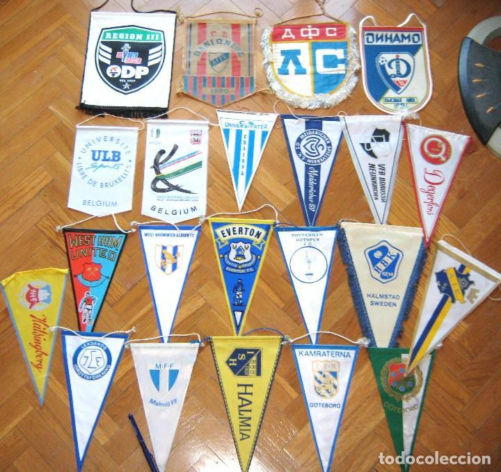 22 BANDERIN PENNANT WIMPEL FOOTBALL TEAMS EUROP UEFA GERMANY ENGLAND SWEDEN L/66 (Coleccionismo Deportivo - Banderas y Banderines de Fútbol)