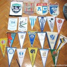Coleccionismo deportivo: 22 BANDERIN PENNANT WIMPEL FOOTBALL TEAMS EUROP UEFA GERMANY ENGLAND SWEDEN L/66. Lote 185983422