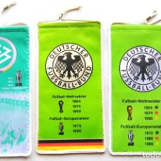 Coleccionismo deportivo: 3 BANDERIN PENNANT FA FF GERMANY ALEMANIA FUSSBALL FEDERATION OFICIAL WIMPEL L68. Lote 196840633