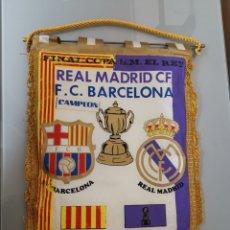 Coleccionismo deportivo: BANDERIN REAL MADRID F. C BARCELONA 1983 FINAL COPA DEL REY. Lote 151486084